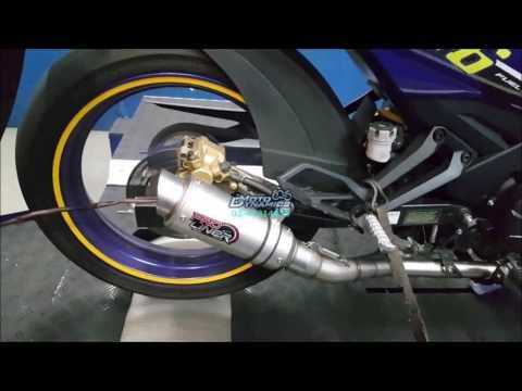 Yamaha Y15ZR aRacer RC M4 Dyno Tuning - Motodynamics Technology Malaysia
