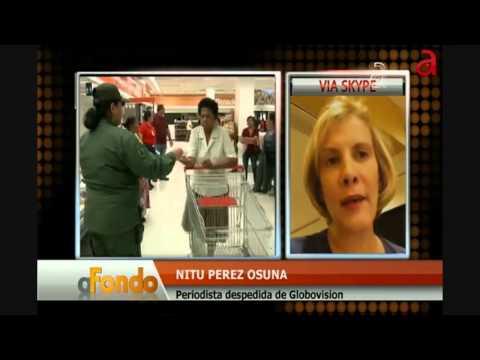 A Fondo Nitu Perez Osuna via Skype se reencuentra en pantalla con Freddy Machado.