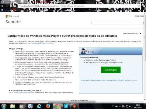 resolvendo o problema quando o windows media player não executa