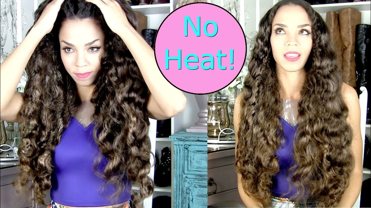 No Heat Curls Tutorial Big Soft Curls Without Heat Hair