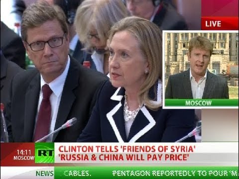 Clinton: Russia &#038; China will 'pay price' for supporting Assad