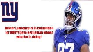 New York Giants- Dexter Lawrence is the highest graded rookie Per PFF! Thank you Dave Gettleman!