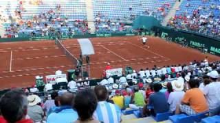 Paul Capdeville won his match against John Isner in the Davis Cup 2011