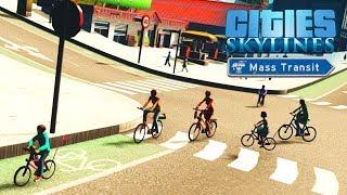 Cities Skylines Mass Transit - Велосипедный район! #17