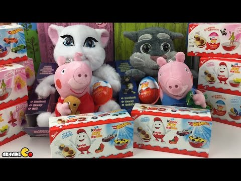 My Talking Tom And Angela Tom And Jerry Peppa Pig Spongebob Kinder Surprise Eggs video
