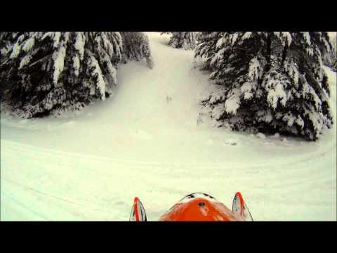 Snowmobiling Powerlines in Bear Lake Michigan GoPro HD