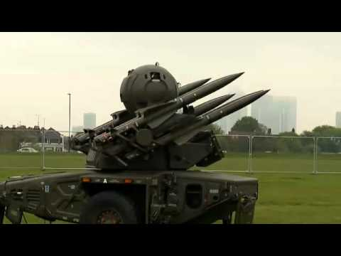 London Olympics MoD Shows Off Rapier Missile System