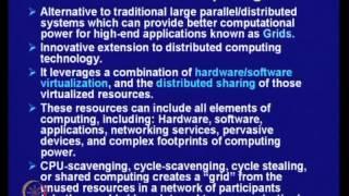 Mod-29 Lec-41 Cluster, Grid and Cloud Computing