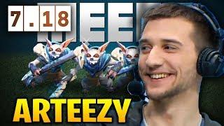 Arteezy Meepo Micro Skill in Dota 2 7.18 [2 Games]
