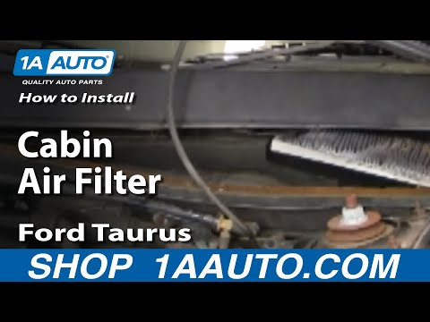 How To Install Replace Cabin Air Filter Ford Taurus Mercury Sable 96-07 1AAuto.com