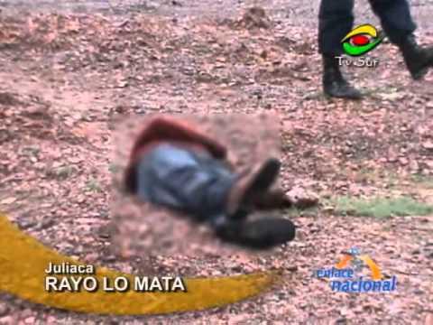 En Juliaca, hombre muere tras recibir impacto de rayo
