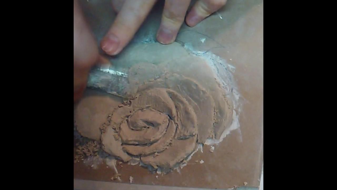 Мастер класс барельеф цветка из гипсовой шпаклевки своими руками 21