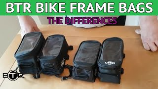 BTR Bike Frame Phone Bags - The differences between versions explained !