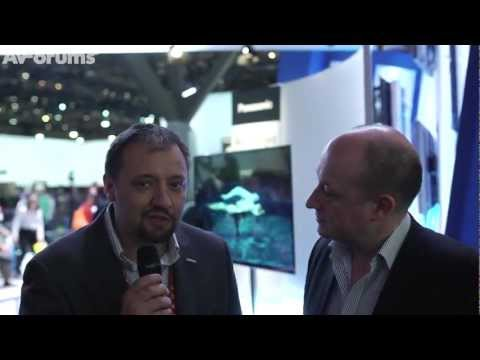 Panasonic 4K Ultra HD 56 inch OLED TV first look at CES 2013