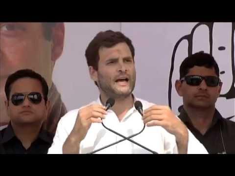 Rahul Gandhi Addresses Public Rally at Mirzapur, Uttar Pradesh on May 06, 2014
