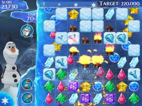 Frozen Free Fall Level 224 Live Action Play Walkthrough