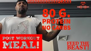 Keto Safe Post Workout Meal 80g. of Protein and 0g. of Carbs