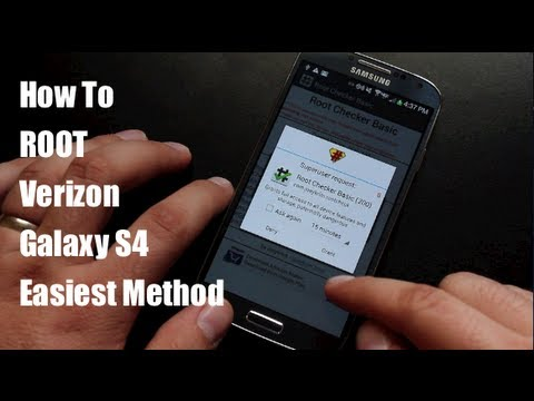 How To ROOT Verizon Galaxy S4 EASIEST Method!