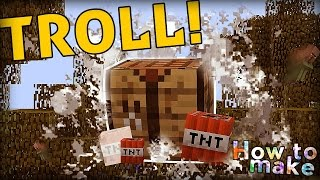 Minecraft: How to make an exploding crafting table!
