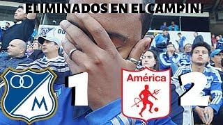 😭 Asi Sufrimos La Derrota De Millonarios En El Campin 2 - 1 Frente El America De Cali 😭