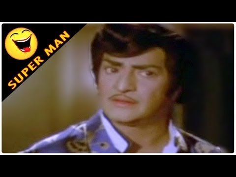 Superman Movie Ntr, Jayaprada Comedy Scene Goons Chase Allu Ramlingiah Away video