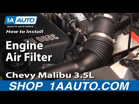 How To Install Replace Engine Air Filter 04-08 Chevy Malibu 3.5L 1AAuto.com