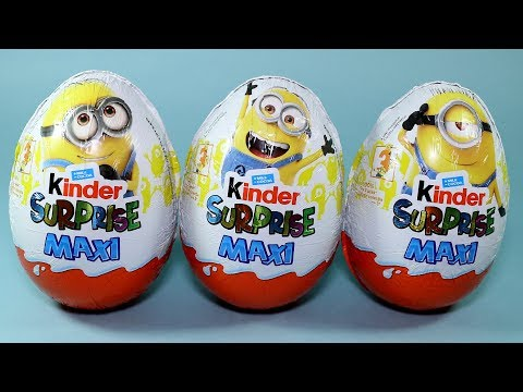 3 Kinder Surprise Maxi Despicable Me 3 Minions Movie Toys