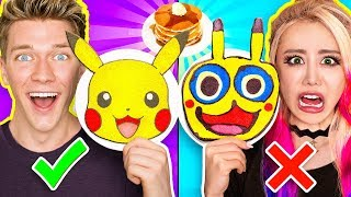 PANCAKE ART CHALLENGE 5!!! Learn How To Make Minions Pokemon Incredibles 2 Tomb Raider DIY Pancakes