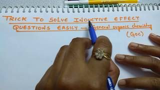 Trick to solve Inductive Effect questions easily | General organic chemistry | GOC
