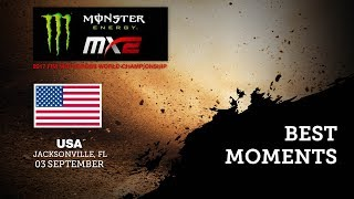 MX2 Qualifying Race Best Moments - Monster Energy MXGP of USA 2017 - motocross
