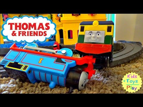 Thomas and Friends Trackmaster Biggest Races and Crashes | Thomas Toy Train Super Station Kids Video