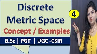 Discrete Metric space Full Concept with Example in Hindi (Part 4)