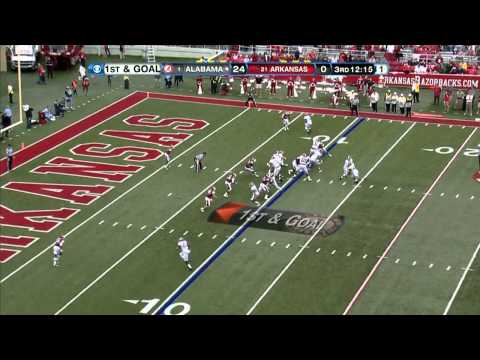 09/15/2012 Alabama vs Arkansas Football Highlights