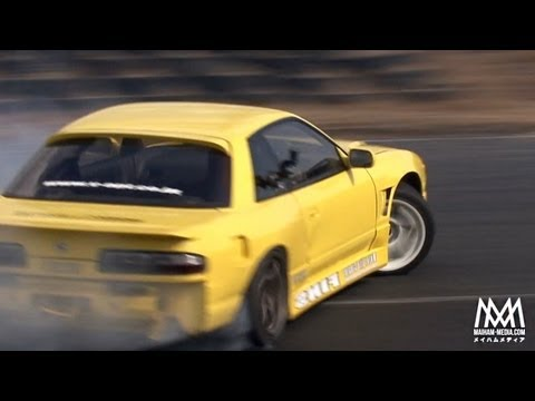 RAW : Nikko Circuit Silvia S13 Backwards Drifting