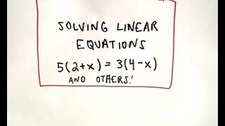 ❖ Solving Linear Equations Made Easy! ❖