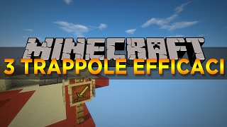 3 trappole FACILISSIME su MINECRAFT 1.10 - Tutorial