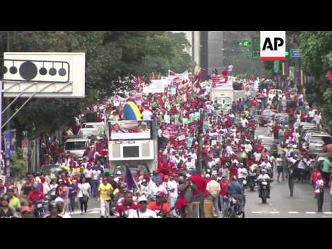 Thousands of demonstrators protest despite Maduro warning