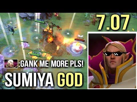 SUMIYA INVOKER CATACLYSM - Most Epic SunStrike Combo Insane Gameplay 7.07 Dota 2
