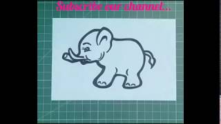 Cute baby elephant drawing... Drawing by heart... CrEaTiVe MiNd...