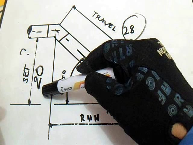 Learn & Earn Pipefitter, Piping Length of Side and Take Off 90, 45 Degrees Elbow thumbnail