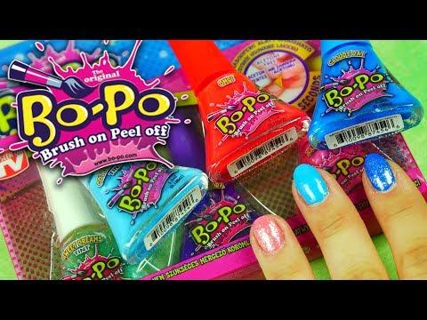 Bo-Po • Lakiery do paznokci dla dzieci • Testuję kolory! • Unboxing i tutorial