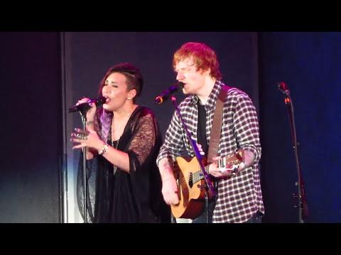 Ed Sheeran and Demi Lovato -