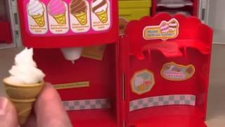 trò chơi trẻ em , làm kem   Làm kem ốc quế nhiều màu sắc