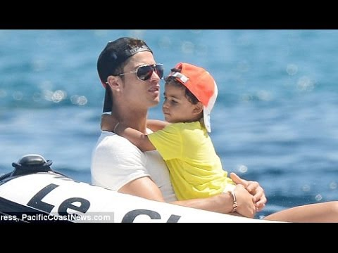 Cristiano Ronaldo with son Cristiano jr new photos 2012