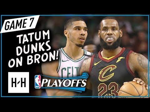 LeBron James vs Jayson Tatum EPIC Game 7 Duel Highlights (2018 Playoffs ECF) Celtics vs Cavs - SICK!
