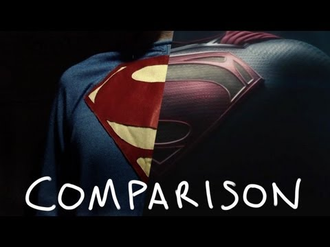 Man Of Steel Trailer - Homemade Version: Side-by-Side Comparison