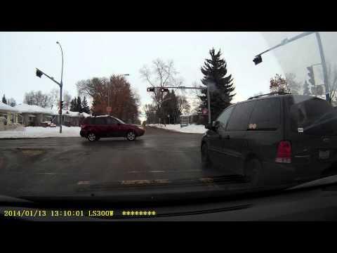 Van Runs Red Light on Purpose - Alberta Plate G K H