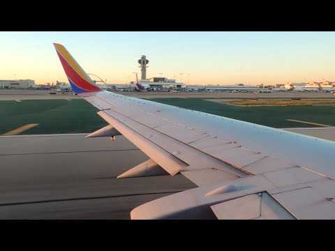 Southwest Airlines Boeing 737-300 [N355SW] push back, taxi, and takeoff from LAX