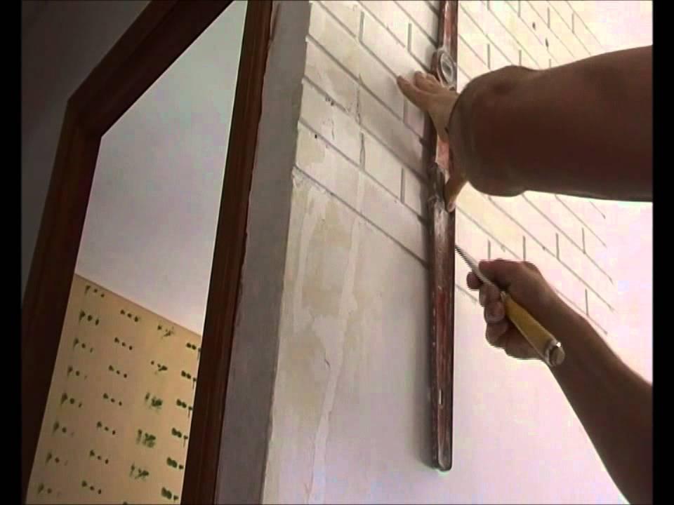 Pared lisa ladrillo visto sin usar ladrillo youtube for Construir una pileta de ladrillos
