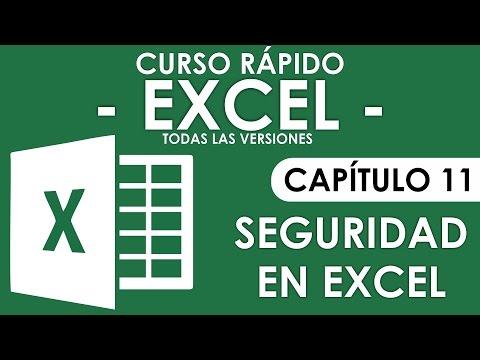 Curso en Excel 2013 - Capitulo 11 (Seguridad en Excel - Libros y Hojas)